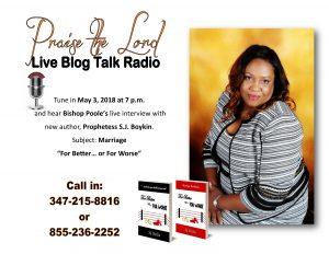 live radio blog flyer